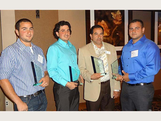 Frank, Frank, Mike, and Dominic Tralongo - Accepting 2013 Parade Of Homes Award